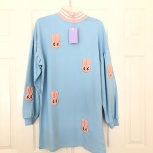 97d1aa6ef33 Lazy Oaf Dresses - Lazy Oaf X Esther Loves You Bunny Sweater Dress